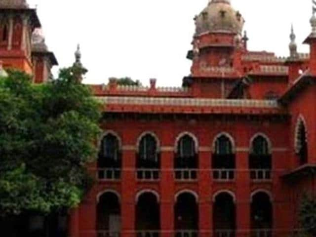 A file photo of the Madras high court.
