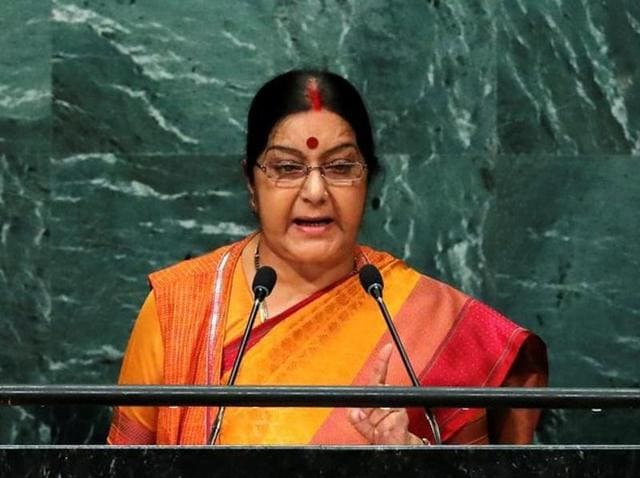 While many described Sushma Swaraj's speech as well-measured and a fitting reply to the neighbouring country, some expressed reservations.(Reuters)