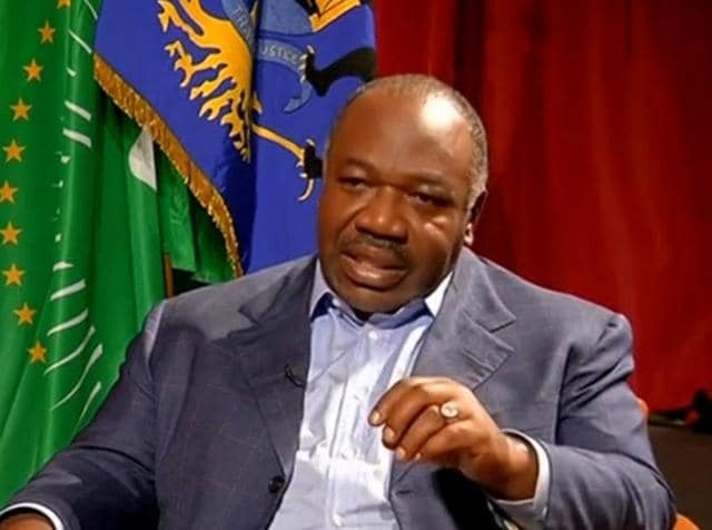 A still image from a video shows Gabon President Ali Bongo being interviewed in Libreville.