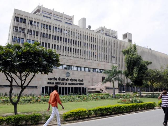 A view of the IIT campus in New Delhi.