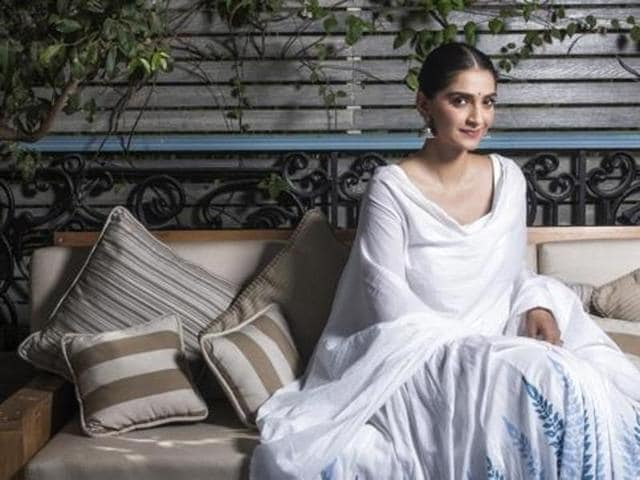 Sonam Kapoor wants people to be comfortable in their skin rather than imitating a celebrity. (HTPhoto)
