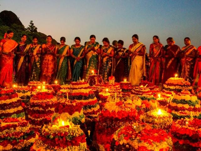 TRS has been celebrating puja-time Bathukamma as a state festival since Telangana was formed.