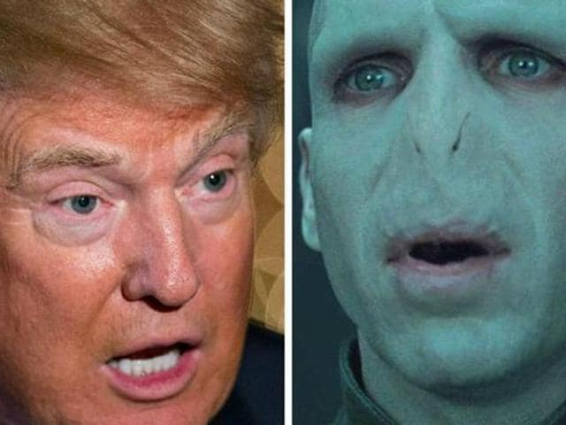 """""""I sort of think Donald Trump might not be as ideologically pure as Voldemort,"""" said Radcliffe."""