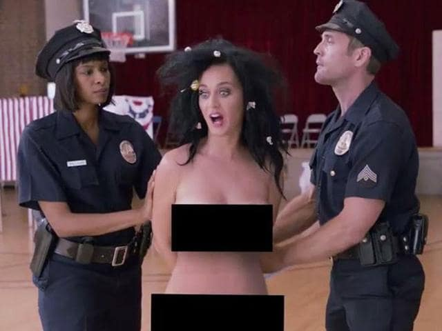 Perry has filmed a naked skit to persuade people to make their choice between Donald Trump and Hillary Clinton ahead of the polls on November 8.