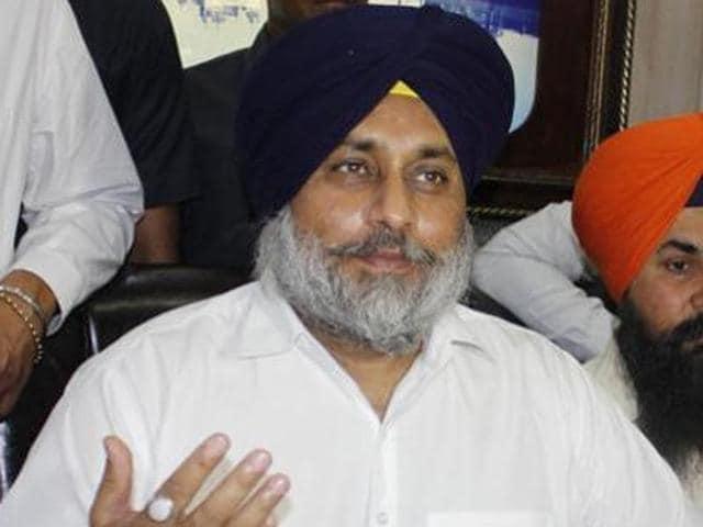 Punjab deputy chief minister and SAD president Sukhbir Singh Badal