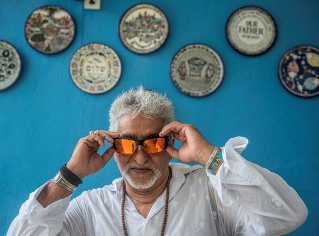 Joe Alvares at his Bandra residence(Photo: Satish Bate/HT)