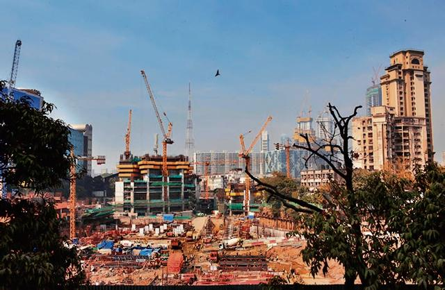 Building frenzy: A construction site in Lower Parel in Mumbai in January 2015.
