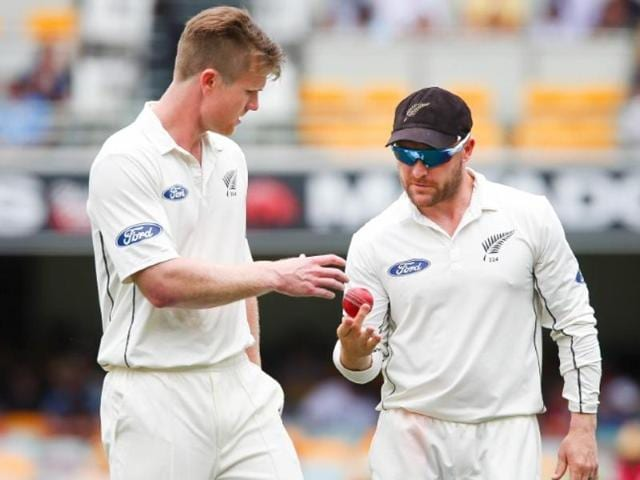 New Zealand all-rounder Jimmy Neesham will miss the second test against India in Kolkata.