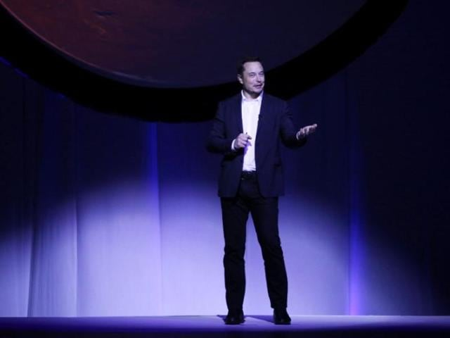SpaceX CEO Elon Musk unveils his plans to colonize Mars during the International Astronautical Congress in Guadalajara, Mexico.