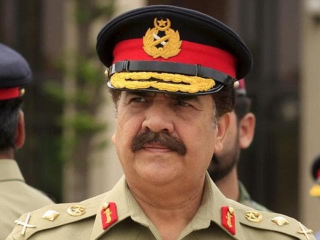 Pakistan's army chief of staff General Raheel Sharif attends a ceremony at the Nur Khan air base in Islamabad.