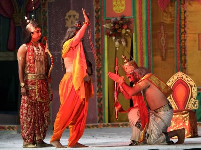 A glimpse of the previous year's Ramlila.