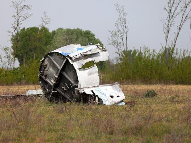 A light plane crashed in central France, killing the two people on board.