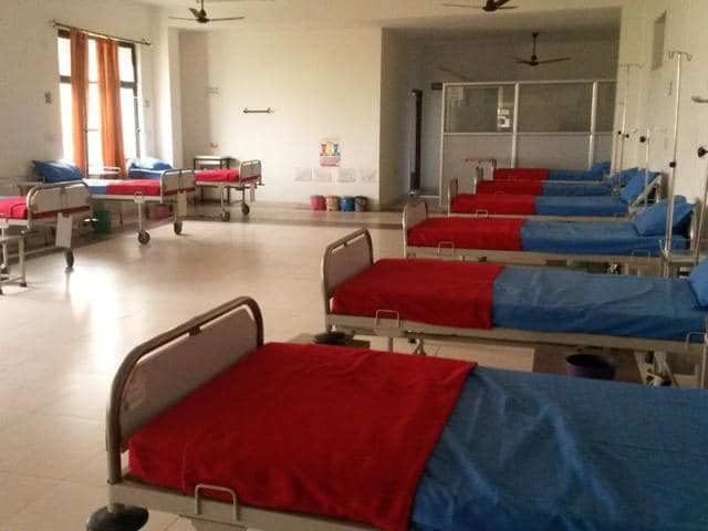 A view of a ward at NC medical college. A Hindustan Times investigation in the five medical colleges, all located 50km to 100km from Delhi, reveal some shocking realities.