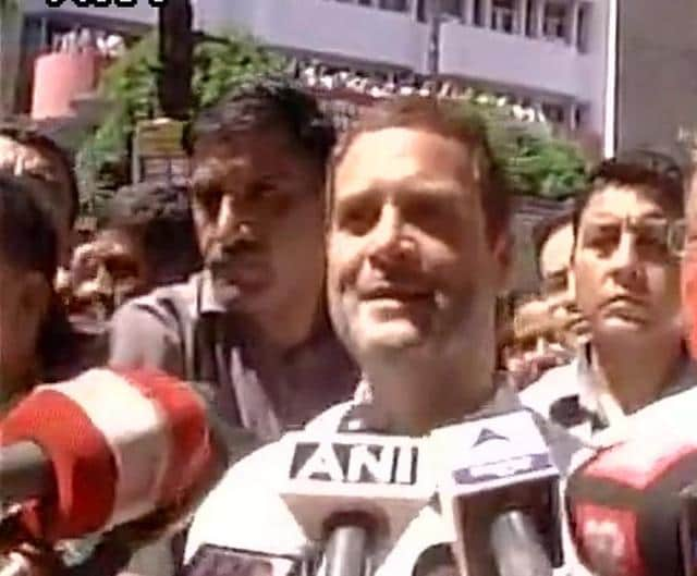 Congress vice president Rahul Gandhi said he was against RSS' ideology.(ANI Photo)
