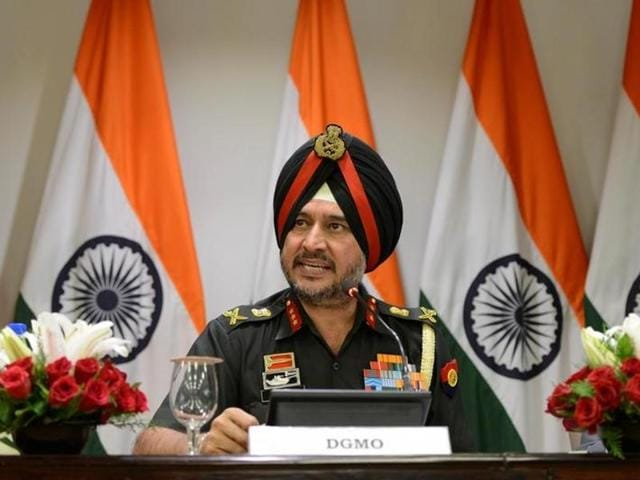 Director General Military Operations Ranbir Singh at a press conferences with External Affairs Ministry Spokesperson Vikas Swarup, in New Delhi, on Thursday