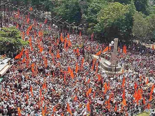 Members of the Maratha community during their