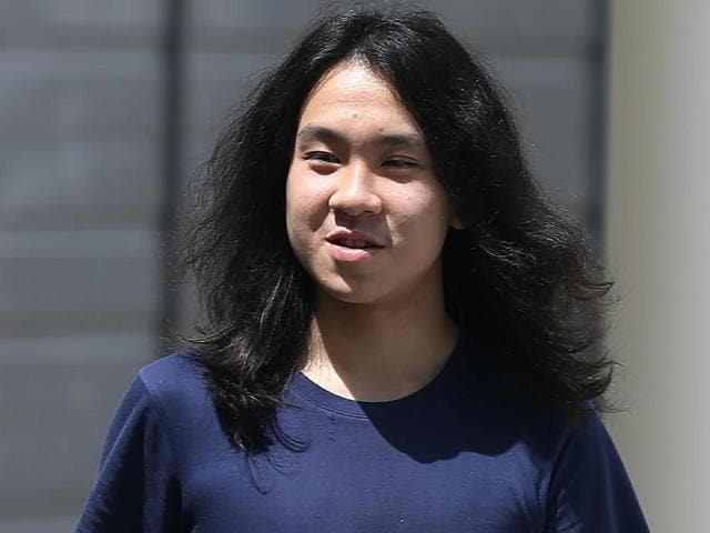 Amos Yee leaves the State Courts in Singapore on September 29, 2016, after being jailed for insulting Muslims and Christians.(AFP)