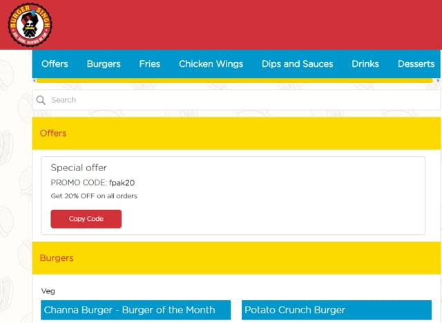 Burger Singh sent out messages offering 20% discount on orders 'in light of the surgical strike'