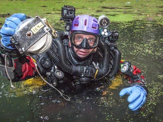 Krzysztof Starnawski,Underwater cave,Poland