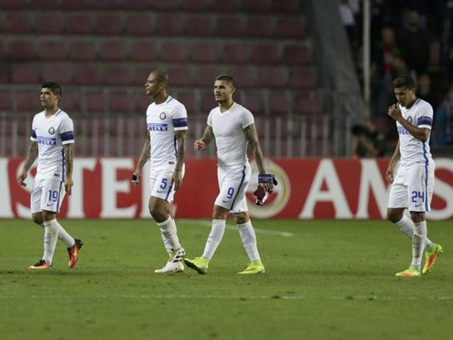 Inter Milan suffered their fourth straight loss in the Europa League.