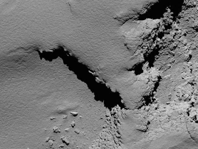 Scientists at the control centre in Darmstadt clapped as hugged after screens showed the loss of signal as Rosetta touched down on the comet.