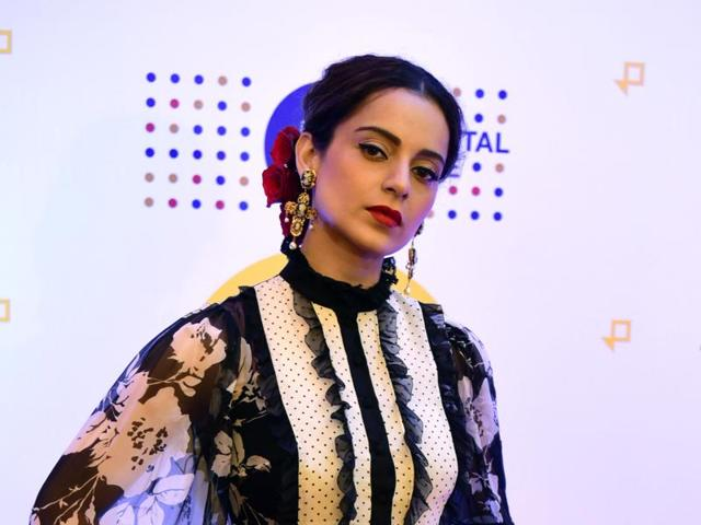 Kangana Ranaut attends the annual press conference for Jio MAMI 18th. Mumbai Film Festival in Mumbai