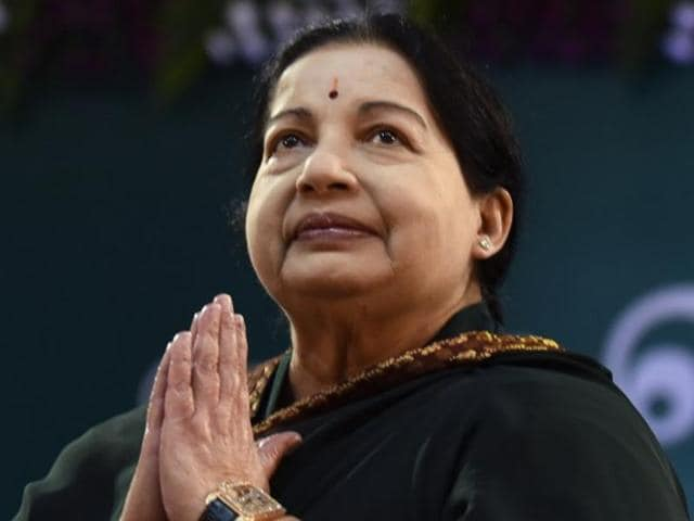 Jayalalithaa, leader of the All India Anna Dravida Munnetra Kazhagam (AIADMK)