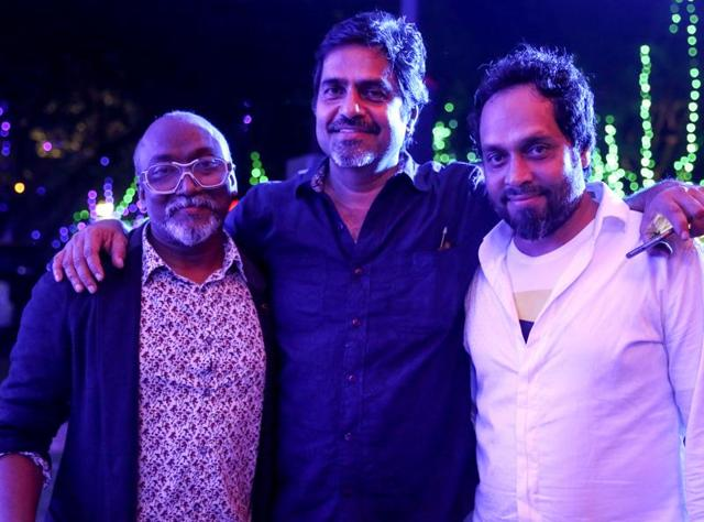 Bose Krishnamachari, Sudarshan Shetty and Riyas Komu, the core team behind the third edition of the  Kochi-Muziris Biennale