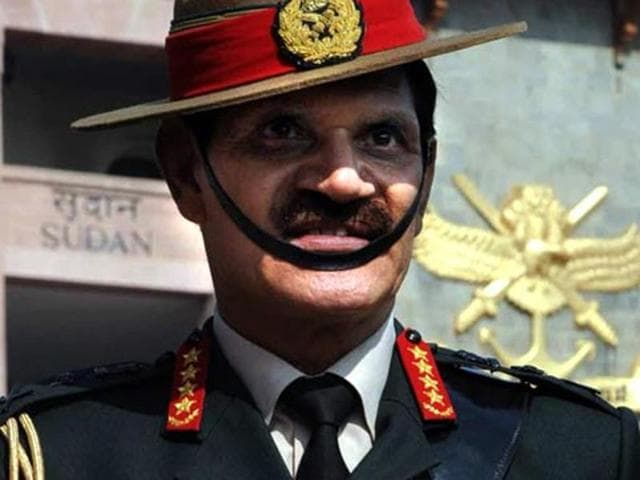 Army chief Gen Dalbir Singh attends the 127th Passing out Parade at National Defence Academy in Pune in 2014.