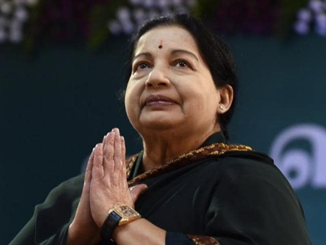J Jayalalithaa, leader of All India Anna Dravida Munnetra Kazhagam (AIADMK), ahead of the swearing-in ceremony as chief minister of Tamil Nadu in Chennai on May 23, 2016. The CM has been hospitalised for a week.