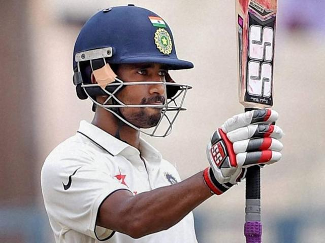 Wriddhiman Saha plays a shot on the 2nd day of 2nd Test Match against New Zealand.