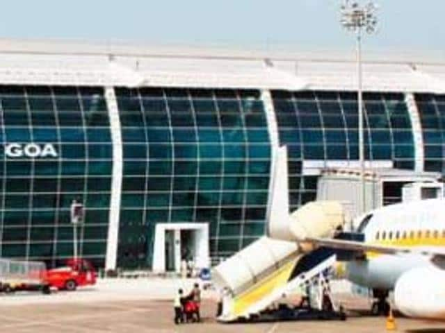 Several flights were delayed and diverted at Goa airport due to bad weather.