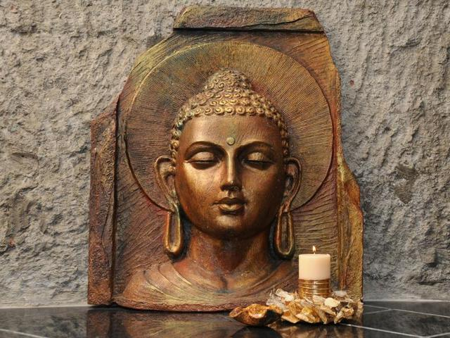 Artist Anju Kumar says her Buddha sculptures are about serenity and peace.