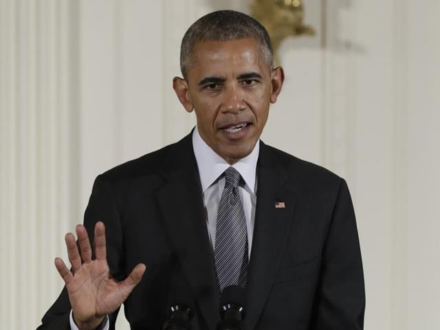 In this photo taken September 22, 2016, President Barack Obama speaks in the East Room of the White House in Washington.