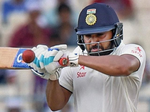 India's Virat Kohli plays a shot on the third day of the second cricket test match against New Zealand.