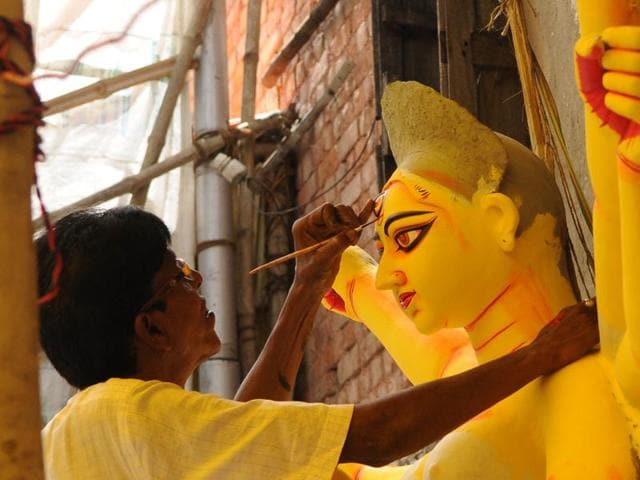 Going by the calendar Durga Puja is to begin on October 8 but a quick reality check by HT revealed that the Pujas this time have got off to an unprecedentedly early start, with none less than chief minister Mamata Banerjee leading the charge.