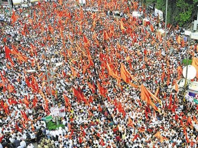 Maratha silent protests,Ahmednagar,Dalit