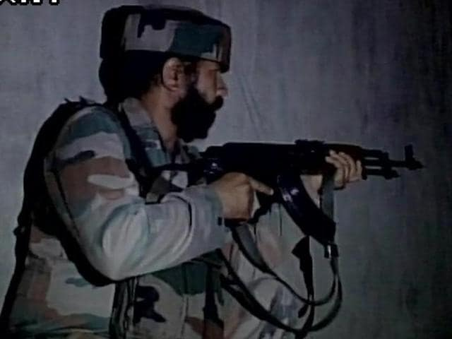 One militant was killed in militant attack on army camp in Baramulla.