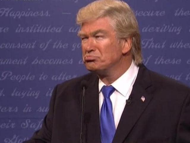 Alec Baldwin does a mean Donald Trump.