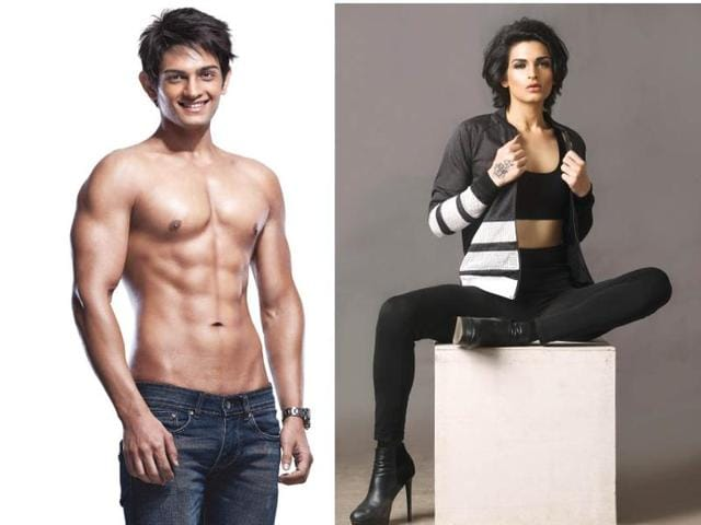 Fitness model and TV star Gaurav Arora came out to the public about being transgender, and changed his name to Gauri.(Sports bra and jacket by Adidas, pants and shoes by Zara; Photo by Subi Samuel)