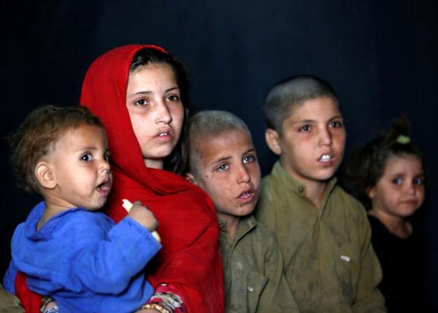 Afghan refugee children returning from Pakistan during an awareness program at United Nations High Commissioner for Refugees (UNHCR) registration centre in Kabul on September 27, 2016.