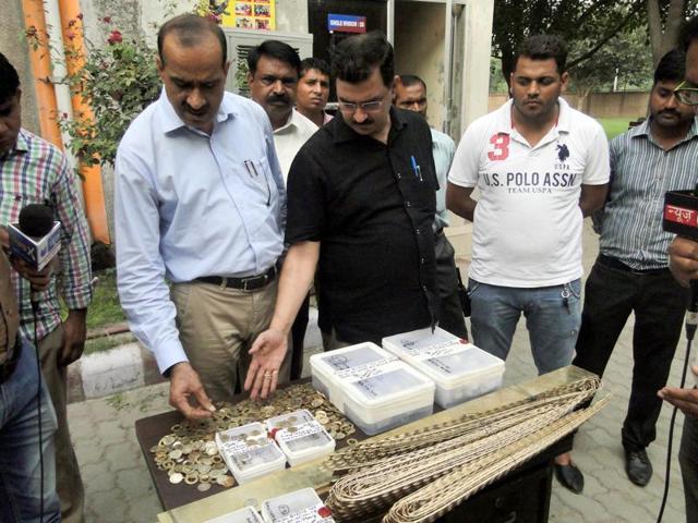 Fake coin factory,Bawana,Delhi Police