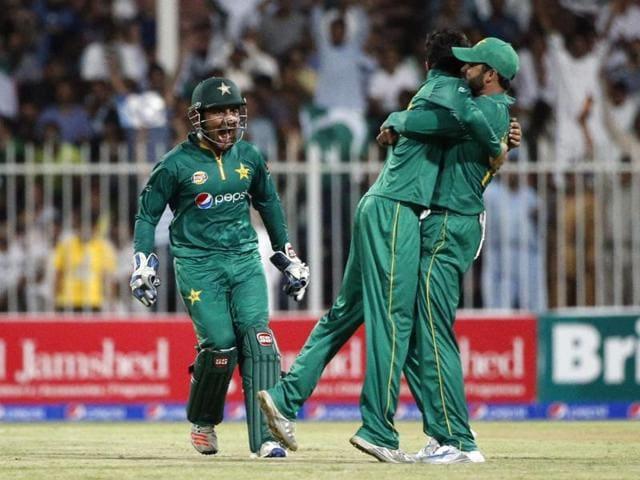 Babar Azim's 126-ball 123 set up Pakistan's 59-run win.