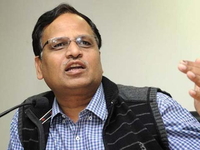 Delhi health minister Satyendar Jain. (File Photo)(Hindustan Times)