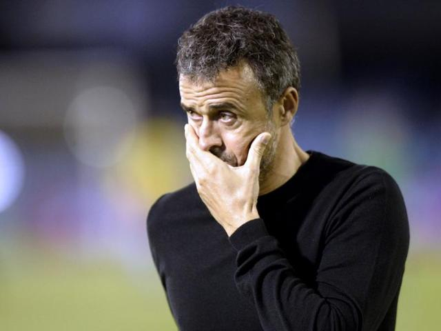 Luis Enrique left captain Andres Iniesta and experienced centre back Javier Mascherano out of his starting lineup.