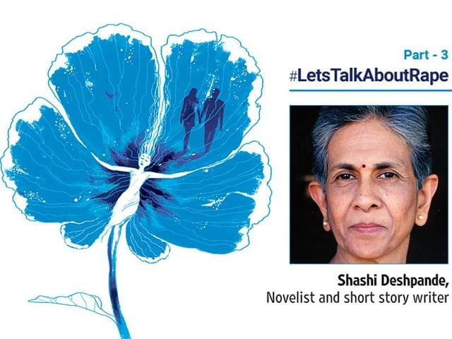 'I am sure most of you will say: what have I to do with rapists? I don't rape. But let's put rape in its context, as part of a pattern of taken-for-granted violence', writes  Shashi Deshpande.