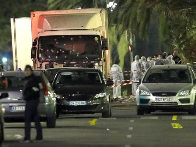 An Islamic State-inspired extremist drove a truck through a crowd during the Bastille Day celebrations at Nice on July 14 this year, killing at least 86 people.