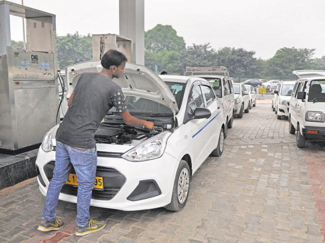 For 60,000 vehicles, the city has only 12 CNG stations with a total production capacity of 85,000 kg per day against the daily demand of 1 lakh kg per day.