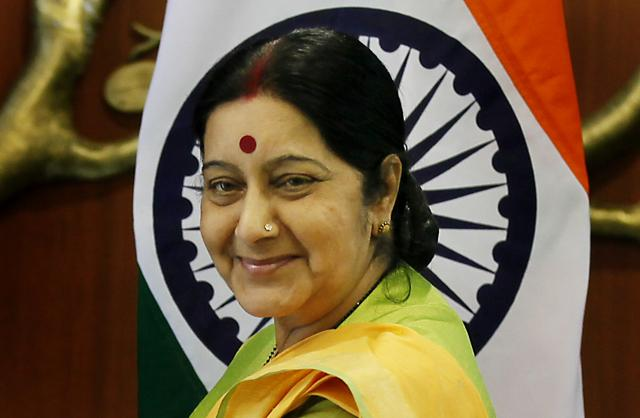 External affairs minister, Sushma Swaraj.