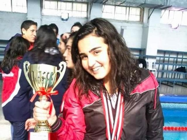 Mireille Hindoyan had won medals in both Syria and Armenia and was coaching young female swimmers in Aleppo as well as training to swim in open-water long-distance competitions.
